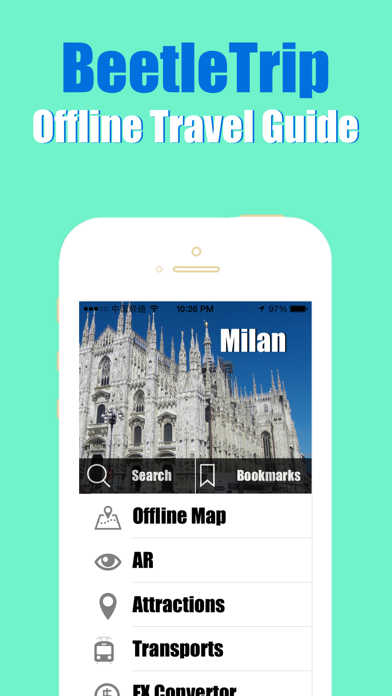 Milan travel guide and offline city map, BeetleTrip