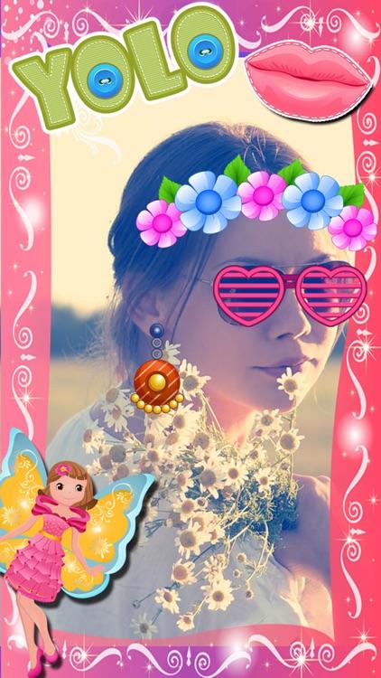 My Little Princess Photo Booth- Fairy tale dress up editor for girls screenshot-3