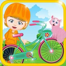 Ride Elsa's Bike - Kids School Bicycle Fun Adventure