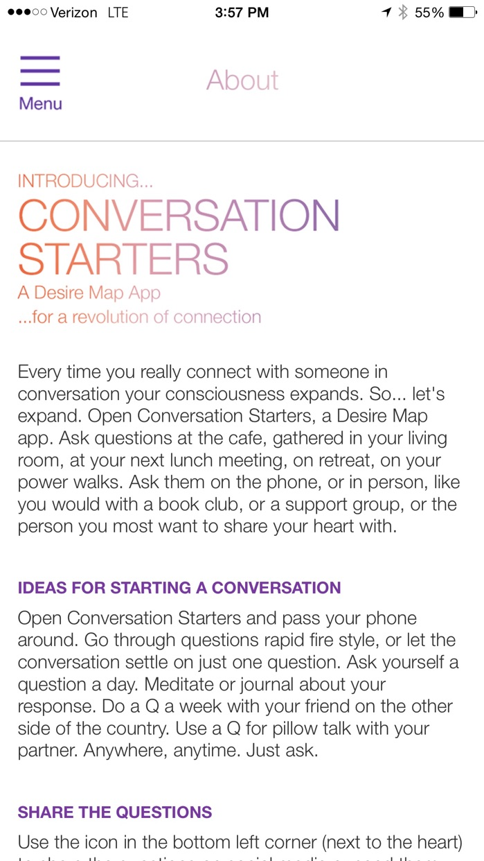 Conversation Starters by Danielle LaPorte Screenshot