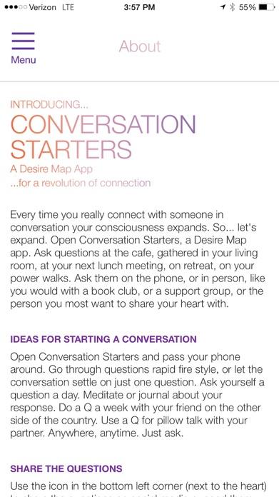 Conversation Starters by Danielle LaPorte Screenshot