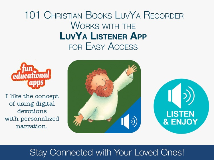 101 Christian Books LuvYa Recorder for Kids – Record your Children's Bibles, Devotions and Prayers screenshot-4