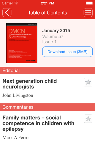 Screenshot of Developmental Medicine & Child Neurology