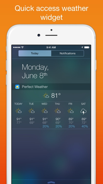 Perfect Weather - NOAA Radar, Forecast, and Severe Weather Alerts