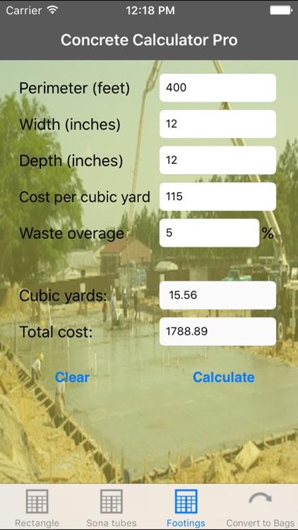 Concrete Calculator Pro