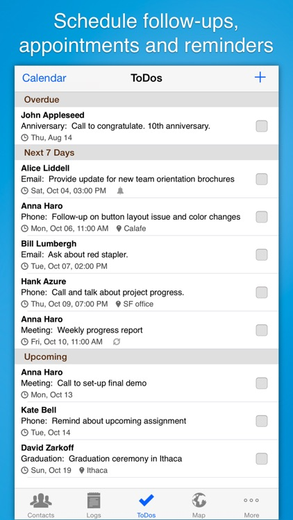 Contacts Journal CRM: Build Business Relationships screenshot-4