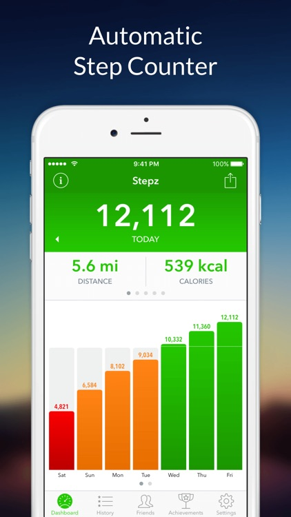 Stepz - Step Counter screenshot-0