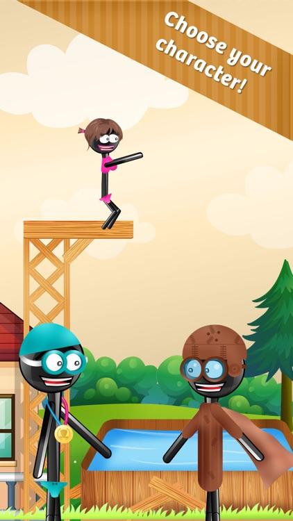 Stickman High Diving PRO - Touch, Jump & Flip! screenshot-3