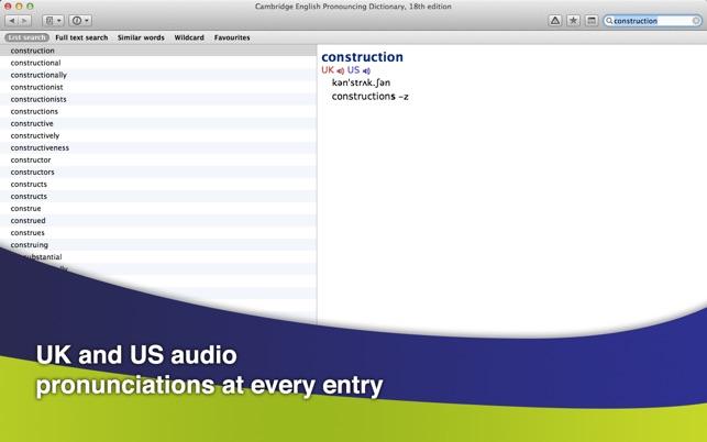 Cambridge Dictionaries on the Mac App Store