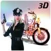 警察バイク レースシミュレータ 3 D – チェイス & 撮影犯罪町通りの強盗の車警察モト ドライバーとして