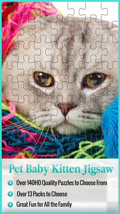 Animal Puzzle Packs & Bits - Kitty Cat Baby Mermaid Jigsaw
