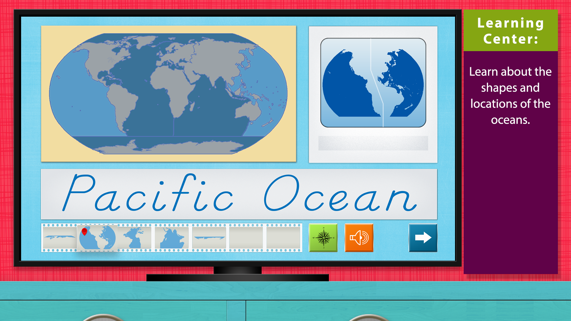 World Continents and Oceans - Geography by Mobile Montessori screenshot 2