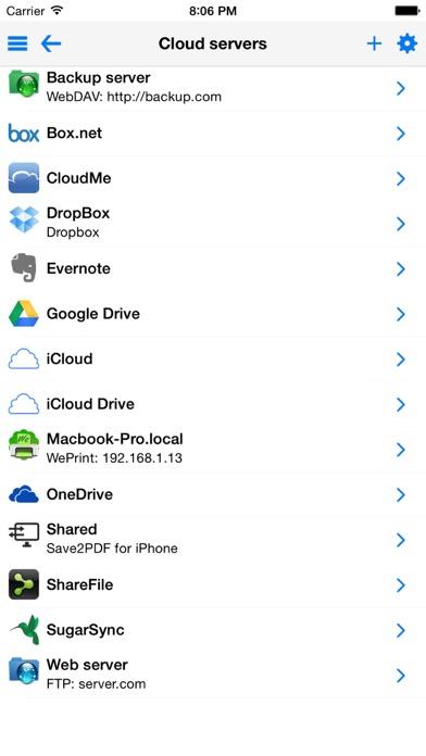 Save2PDF for iPhone Screenshots