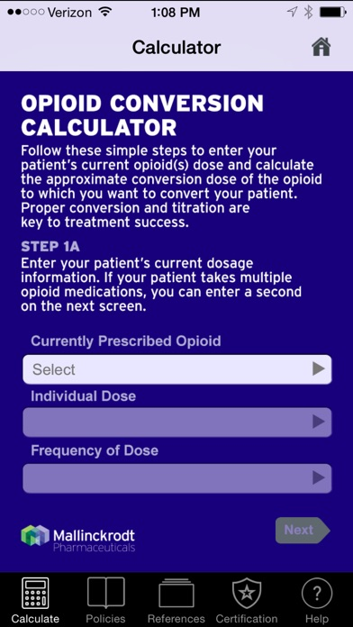 Opioid Dose Conversion Calculator By Mallinckrodt Llc Ios United States Searchman Data Information
