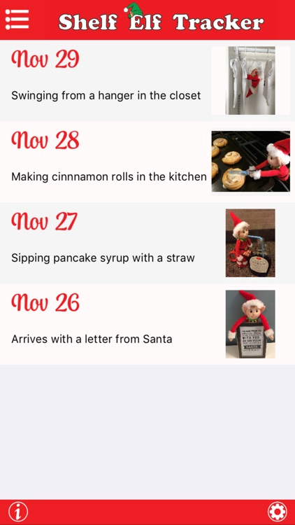 Shelf Elf Tracker - Where's that Elf? - Daily Reminder and Ideas for your Scout Elf's Location