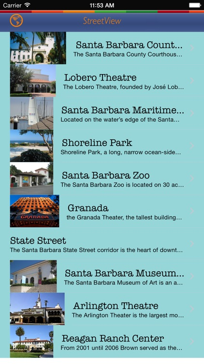 Santa Barbara Tour Guide: Best Offline Maps with StreetView and Emergency Help Info screenshot-4