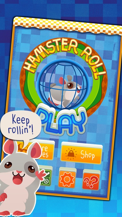 Hamster Roll - Cute Pet in a Running Wheel Platform Game screenshot-4