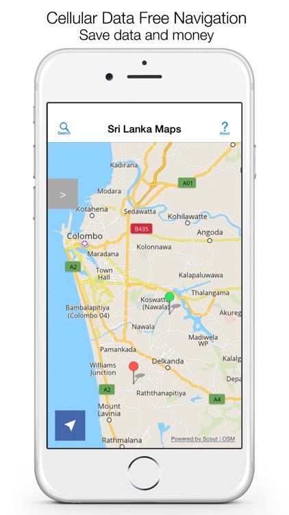 Sri Lanka Offline Maps & Offline Navigation screenshot-0