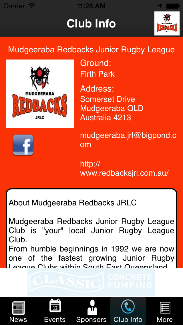 Mudgeeraba Redbacks Junior Rugby League Club screenshot two