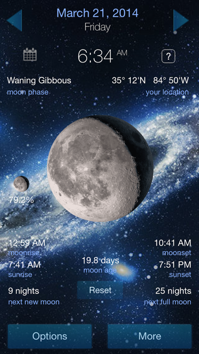 Lunar Phase Full moon calendar screenshot three