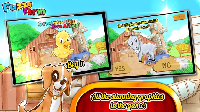 Fuzzy Farm : Animal Matching Game, A Free Games for Kids Screenshot