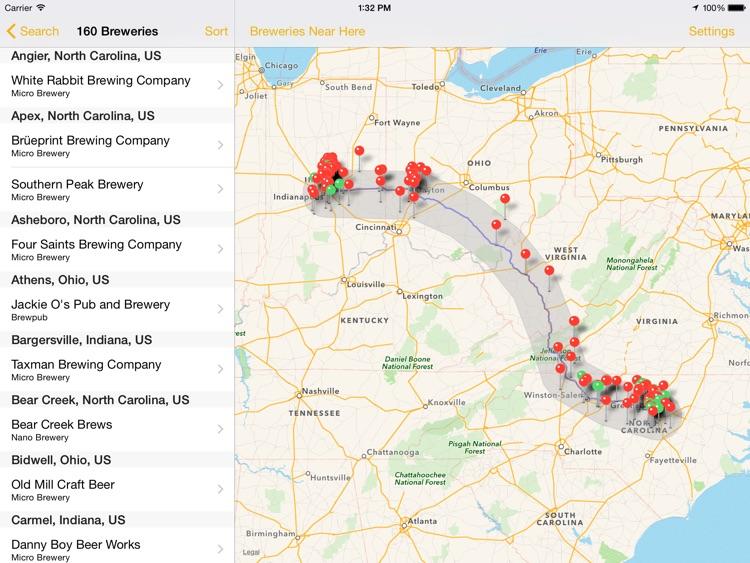 BreweryMap HD screenshot-3