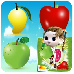 Fruits memo preschooler education game for kids