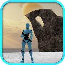 Robot Hunter Girl Attack