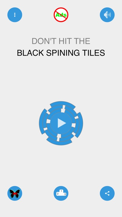 Crazy Spinning Wheel Tiles - Don't hit the black color