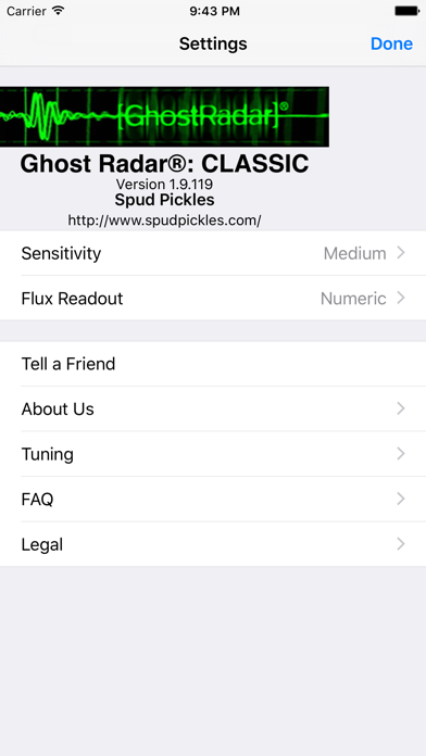 Ghost Radar®: CLASSIC by Spud Pickles (iOS, United States
