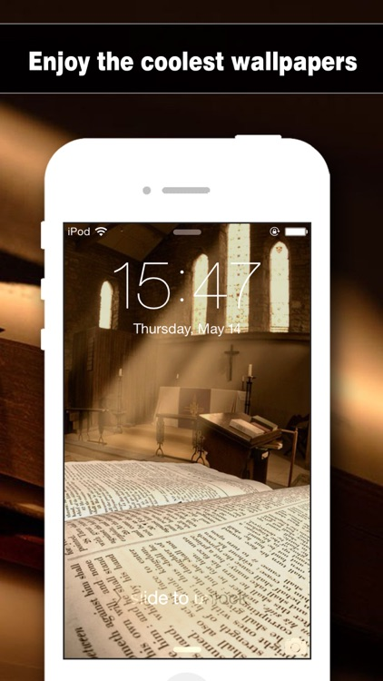 Bible Wallpapers Pro - Backgrounds & Lock Screen Maker with Holy Retina Themes for iOS 8 & iPhone 6 screenshot-3