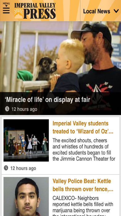 Imperial Valley Press News screenshot one