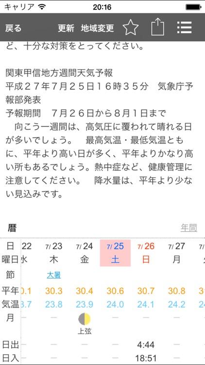 お天気モニタ - 天気予報・気象情報をまとめてお届け screenshot-4
