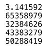 Pi : π 円周率100万桁