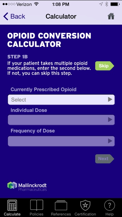 Opioid Dose Conversion Calculator By Mallinckrodt Llc Ios United