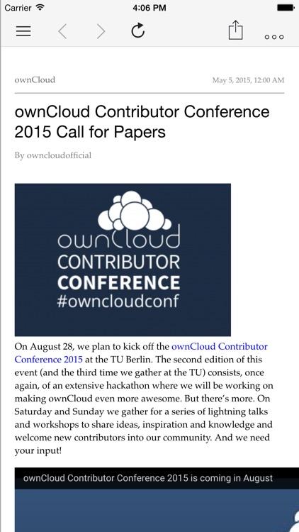 CloudNews – ownCloud News Reader