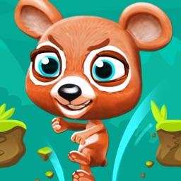 Angry Bear – Bears vs. Rabbits Running & Jumping Game