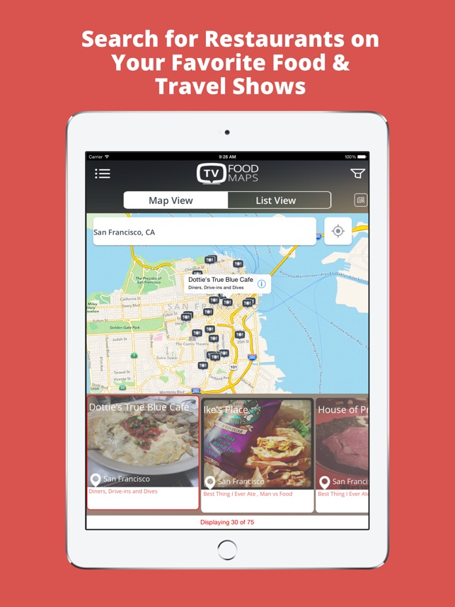 TV Food Maps - Restaurants on TV, Road Trip Planner, Diners, Drive Diner Drive Ins And Dives Map on