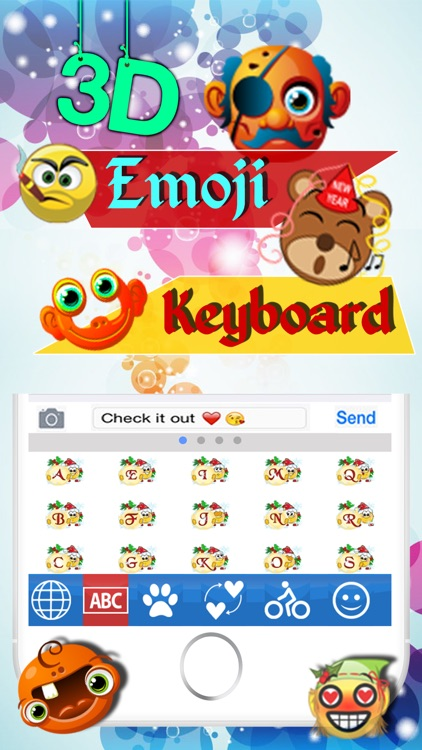 Animated 3D Emoji Keyboard - Animated GIF Emoji Icons Keyboard