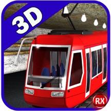 地铁列车模拟器 - 逼真的快速运输与繁忙的铁路隧道