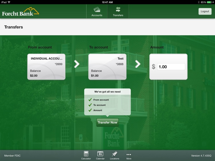 Forcht Bank Mobile Banking for iPad screenshot-3
