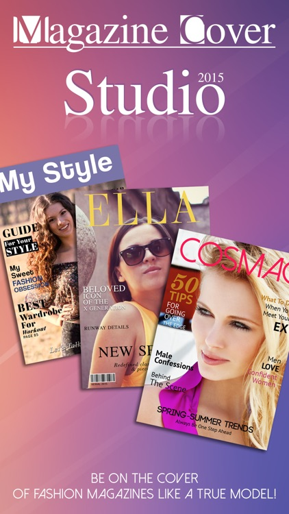Magazine Cover Studio - Put your Pics in Frames with Text on Magazines to be Photo Models