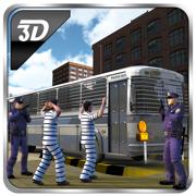 警方运输车监狱巴士3D - 驱动刑事传输总线的犯罪城