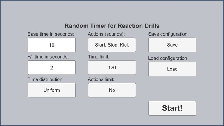 Random Timer (Reaction Drills)