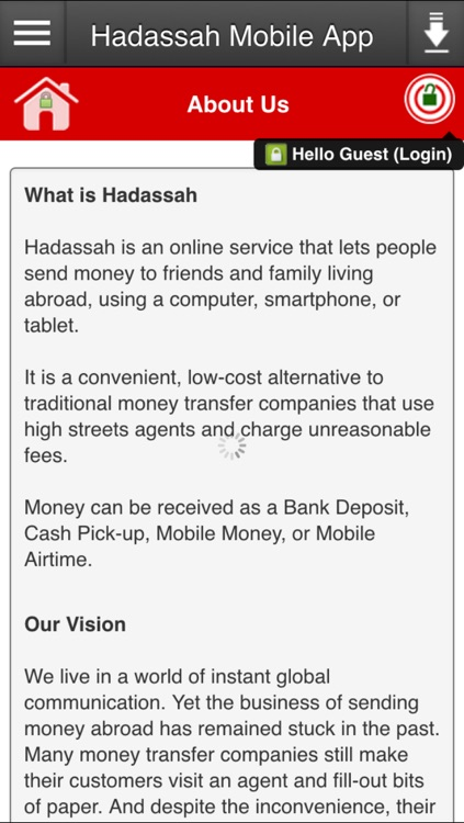 Hadassah Mobile App by RemitAnywhere Inc