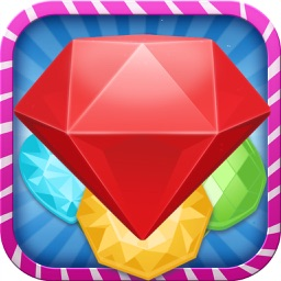 Jewel Diamonds-The Best Free Match 3 Game for kids and girls