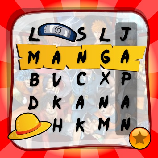 "Word Search Manga ""Japanese Top Hit Cartoon Wordsearch Puzzle Games"""