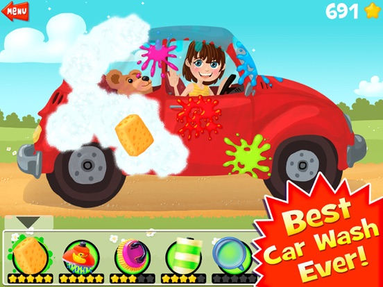 Amazing Car and Truck Wash - The free funny cars cleaning game for little kids and toddlers lite-ipad-2
