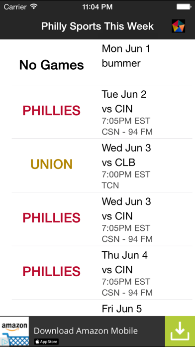 Philly Sports This Week screenshot two