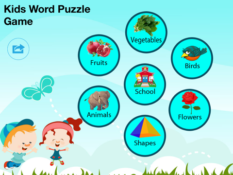 Screenshot #4 pour Kids Word Puzzles - Spell to learn Animals, Birds, Fruits, Flowers, Shapes, Vegetables for preschool and kindergarten